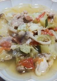糖質オフ☆たっぷり野菜のチキンスープ