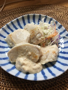 鶏むね肉の塩麹漬けソテー梅マヨソース