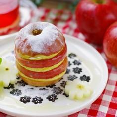 りんごスタックパンケーキ
