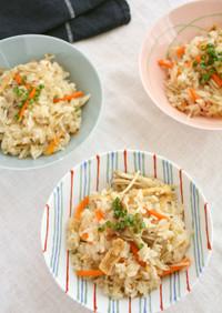 こんにゃく米で五目炊き込みご飯!