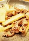 豚肉と長いものポン酢炒め