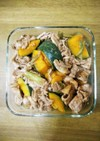 お料理一年生の簡単❤豚ケチャかぼちゃ❤