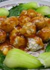 豆腐で肉団子のケチャップ甘酢ソース