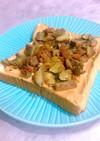 ピーナッツクリームと渋皮煮のトースト
