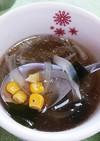 マグカップとレンチンで簡単コンソメスープ