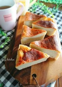 HMで簡単☆バナナと豆腐のチーズケーキ。