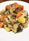 根菜といわしのホッと煮物