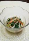 味付めかぶとチンゲン菜の中華風サラダ。
