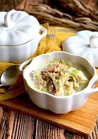 舞茸と白菜の豆乳塩麹スープ糖質オフ