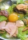 サクッと和洋折衷サラダボウル朝飯∝
