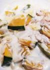 豚バラとカボチャのクリーム煮