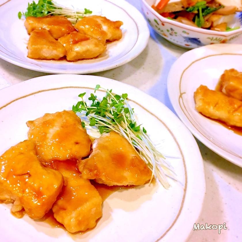 鶏胸肉のマーマレード照り焼き (^^)♡