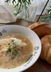 玉ねぎとベーコンのスープ