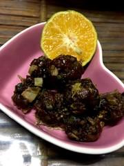 レンチン肉団子カボス醤油の写真