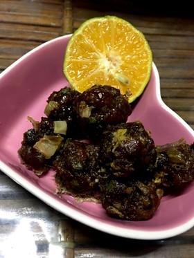 レンチン肉団子カボス醤油