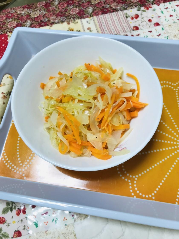 柿酢の蒸し野菜サラダ