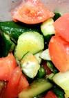 きゅうりとトマトのバキバキ浅漬けサラダ