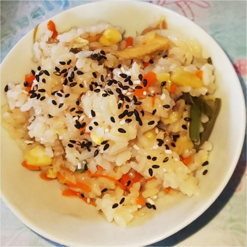 炊飯器で簡単♪栗ご飯 栗山菜おこわ