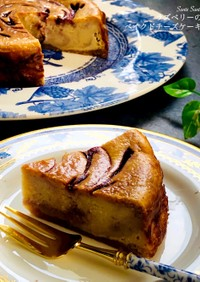 ラズベリーのマーブルチーズケーキ