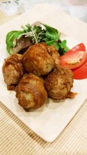低カロリー!里芋と豚肉のコロコロ照り焼きの写真