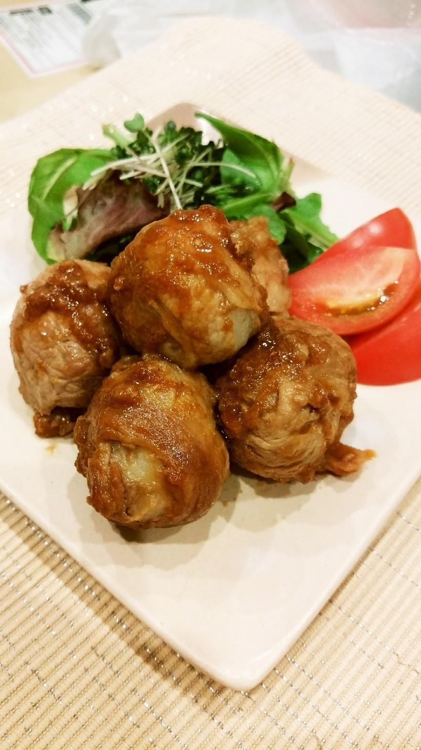 低カロリー!里芋と豚肉のコロコロ照り焼き