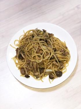 白菜とキノコの和風パスタ☆