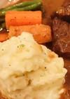 肉料理にぴったりクリーミーマッシュポテト