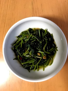 サツマイモの葉 台湾青菜炒め