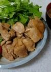 鶏肉の味噌酢炒め&ナメコの味噌汁