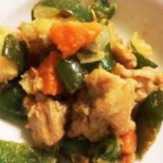 簡単!カレー風味のチキンと野菜炒り煮!