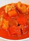 チキンとごぼうと人参のトマト煮込みスープ