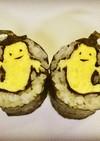 寿司型模様巻き(ハロウィン・オバケ)