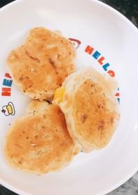 お好み焼き風パンケーキ 離乳食後期