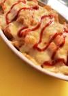 ケチャップご飯チーズのせ。手抜き朝ごはん