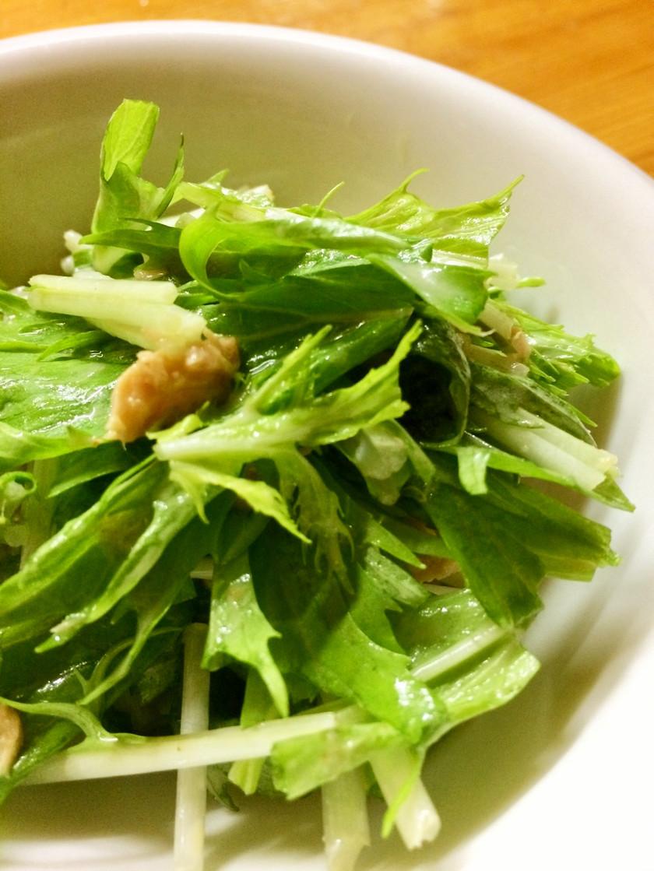 水菜のシーチキンサラダ