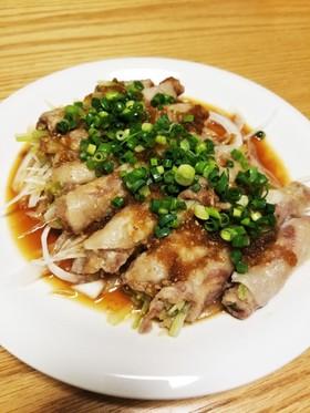 レンジで⭐おろし玉ねぎダレで葱の豚肉巻き