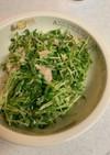 豆苗のごまマヨサラダ
