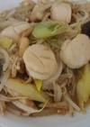 ホタテ貝柱とエノキのXO醤炒め
