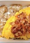 玉ねぎの卵白焼き団子と洋風卵焼き