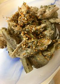 【糖質制限】鳥ササミと茄子の蒸サラダ