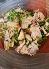 豆苗とエリンギの炒めもの〜醤油風味