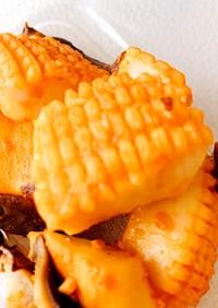 味噌漬けイカと椎茸ホイル焼き