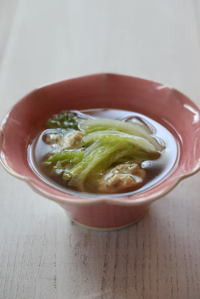 鶏だんごの白菜スープ