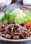レーズン in 無国籍な豚の生姜焼き