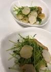 長芋と豆苗のバター醤油炒め