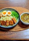 豚角煮と野菜スープのつけ麺