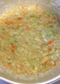 [離乳食中期〜]大人の取り分け野菜スープ