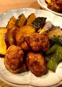 かんたん★野菜と豚ボールの甘辛揚げ浸し