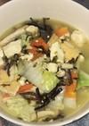 豆腐と野菜と高菜漬けの花椒鶏白湯スープ