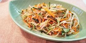 簡単★もやしと彩り野菜の中華和え